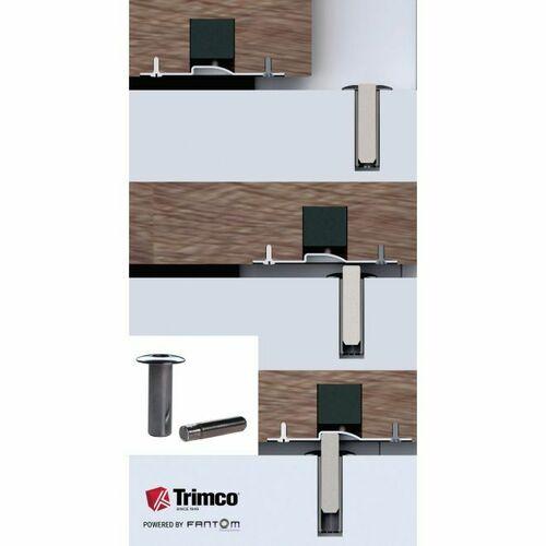 Trimco FANTOM-BD625 Fantom Barn Door Innovative Magnetic Door Stop Bright Chrome Finish