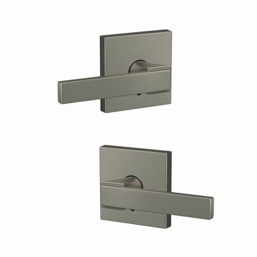 Schlage FC172NBK619COL Northbrook Lever with Collins Rose Non Turning Dummy Lock Satin Nickel Finish
