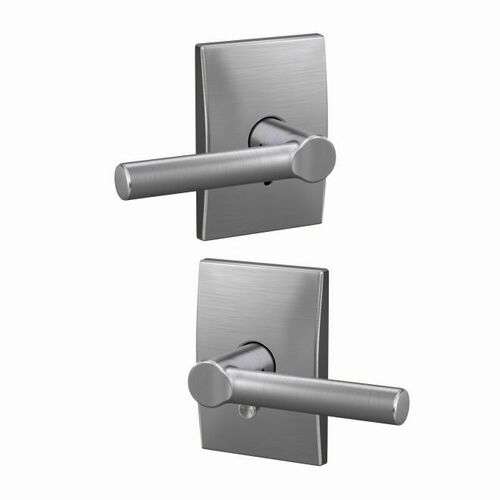 Schlage FC21BRW626CEN Broadway Lever with Century Rose Passage and Privacy Lock with 16600 Latch and 10027 Strike Satin Chrome Finish