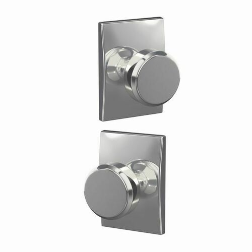 Schlage FC21BWE625CEN Bowery Knob with Century Rose Passage and Privacy Lock with 16600 Latch and 10027 Strike Bright Chrome Finish