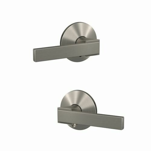 Schlage FC21NBK619KIN Northbrook Lever with Kinsler Rose Passage and Privacy Lock with 16600 Latch and 10027 Strike Satin Nickel Finish