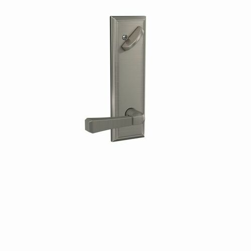 Schlage FCT59RVT619ADD Rivington Lever with Addison Escutcheon Interior Active Trim with 16680 Latch and 10269 Strike Satin Nickel Finish