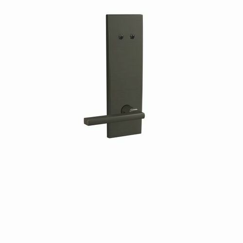 Schlage FCT94LAT530CEN Latitude Lever with Century Escutcheon Dummy Interior Trim Black Stainless Finish