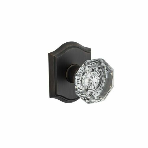 Baldwin FDCRYTAR112 Full Dummy Crystal Knob and Traditional Arch Rose Venetian Bronze Finish