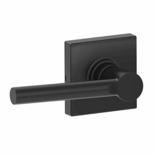 Dexter J10BRW622COL Broadway Lever with Collins Rose Passage Lock with Adjustable Latch and Radius Strike Matte Black Finish