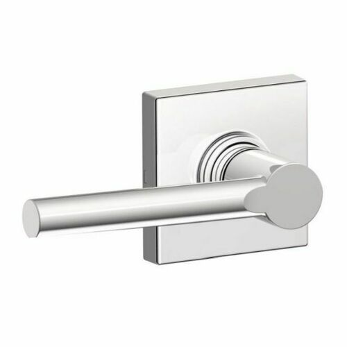Dexter J10BRW625COL Broadway Lever with Collins Rose Passage Lock with Adjustable Latch and Radius Strike Bright Chrome Finish