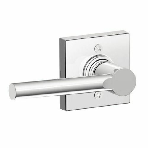 Dexter J170BRW625COL Broadway Lever with Collins Rose Half Dummy Lock Bright Chrome Finish