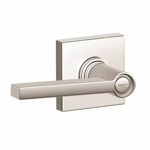 Dexter J40SOL625COL Privacy Lock Solstice Lever with Collins Rose with Adjustable Latch and Radius Strike Bright Chrome Finish