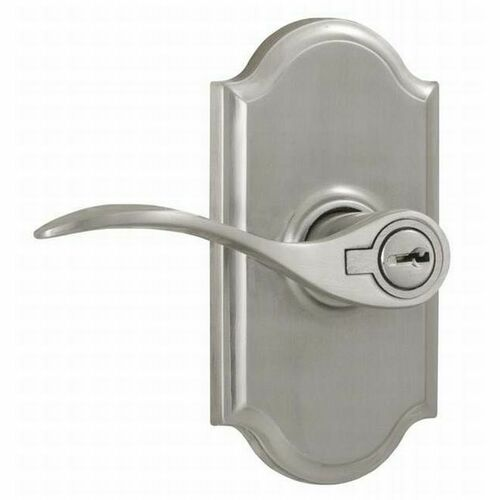 Weslock L1740UNUNSL23 Left Hand Bordeau Premiere Entry Lock with Adjustable Latch and Full Lip Strike Satin Nickel Finish