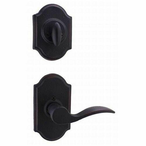 Weslock L7400--H1SL20 Left Hand Carlow Interior Single Cylinder Handleset Trim for Castletown with Adjustable Latch and Round Corner Strikes Oil Ru...