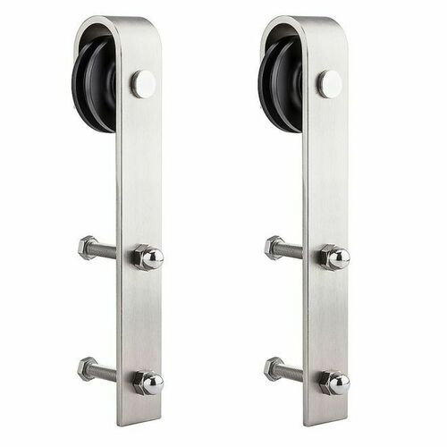 National Hardware N187072 1040 Sliding Door Hardware Strap Hangers Satin Nickel Finish Must be Purchased in Multiples of 2